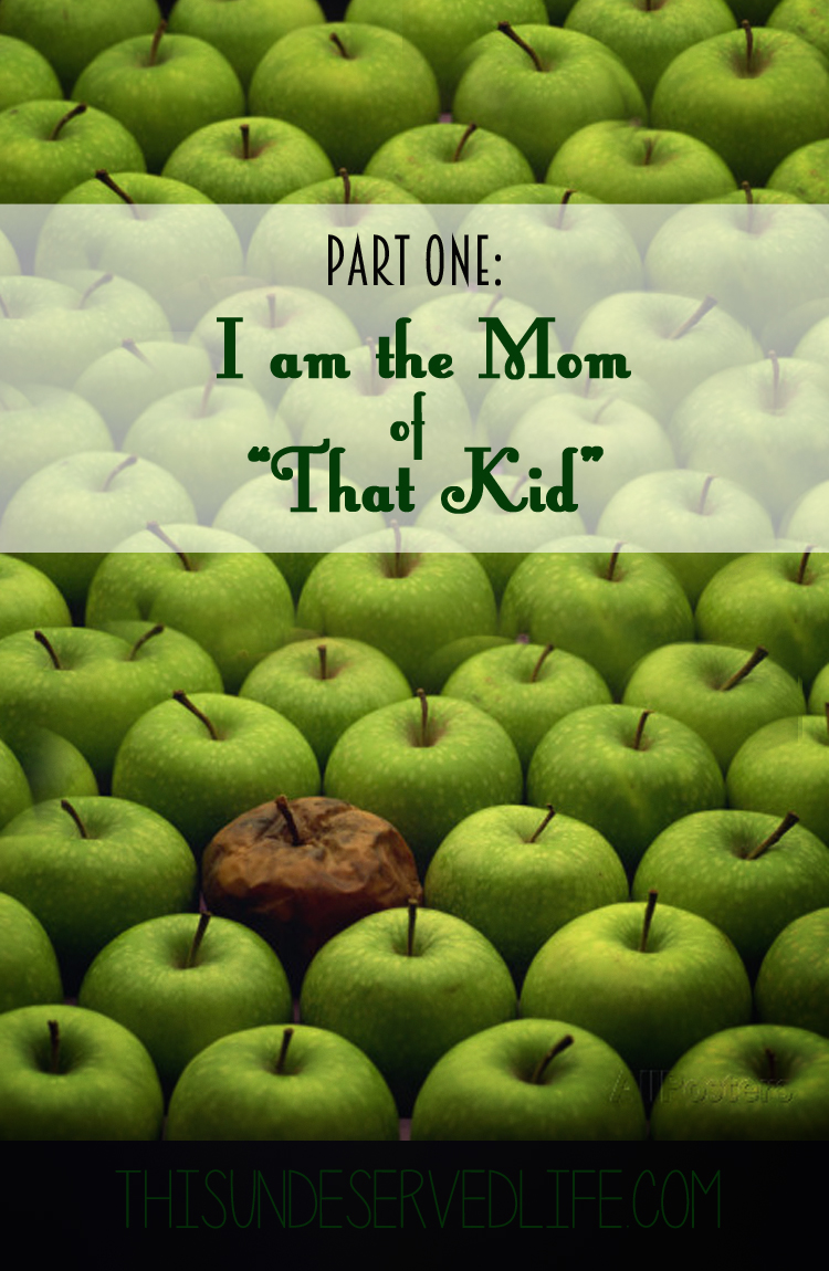 "Part One: I Am the Mom of ""That Kid"""